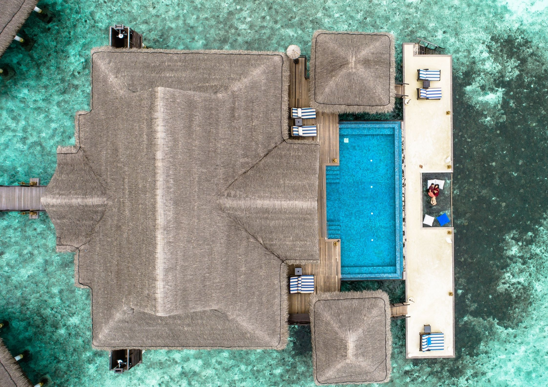 top view villa