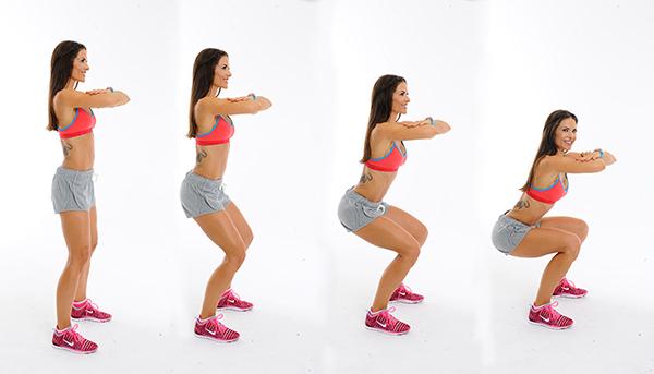 Động tác Squat bài tập thể dục khỏe đẹp mỗi ngày
