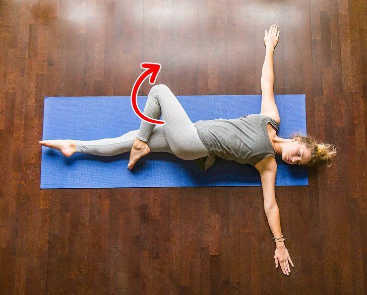 Động tác xoắn bụng bài thể dục giảm mỡ bụng tại nhà