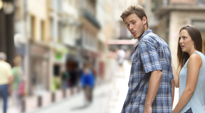 distracted boyfriend zoom background