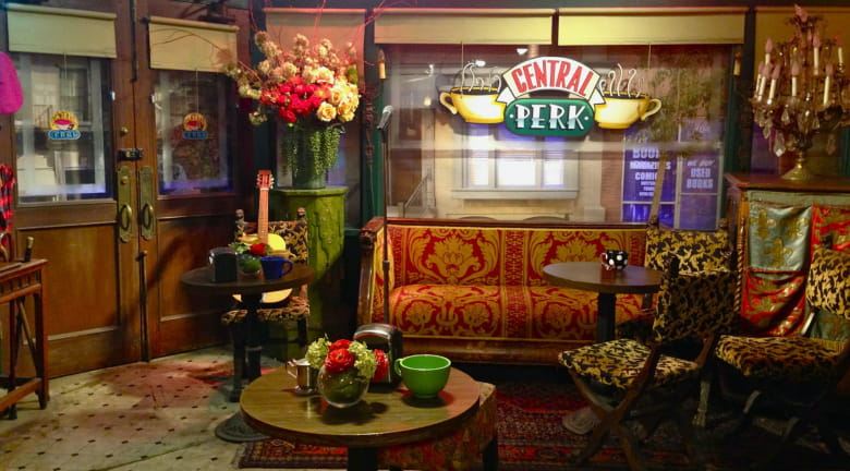 friends coffee shop zoom background
