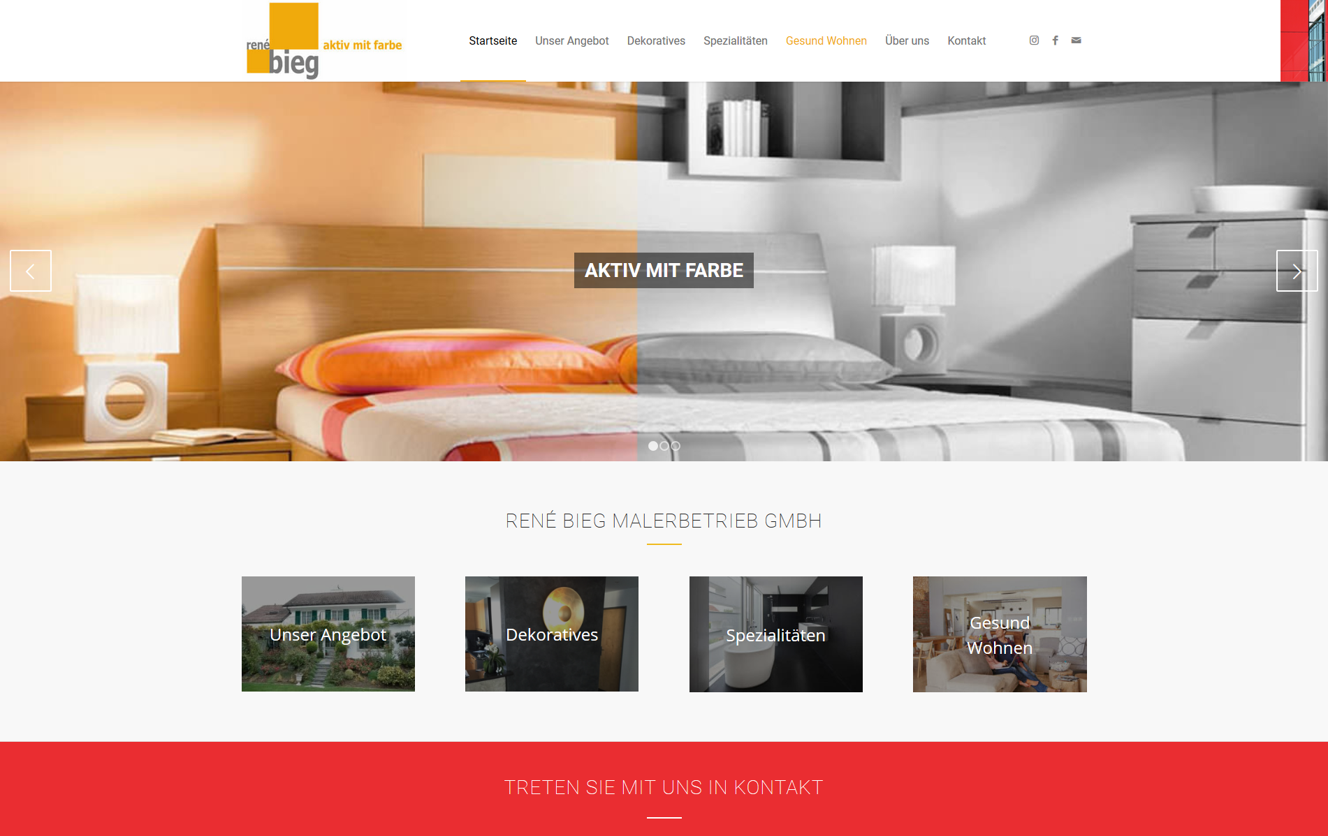 Firmenwebseite Malerbetrieb