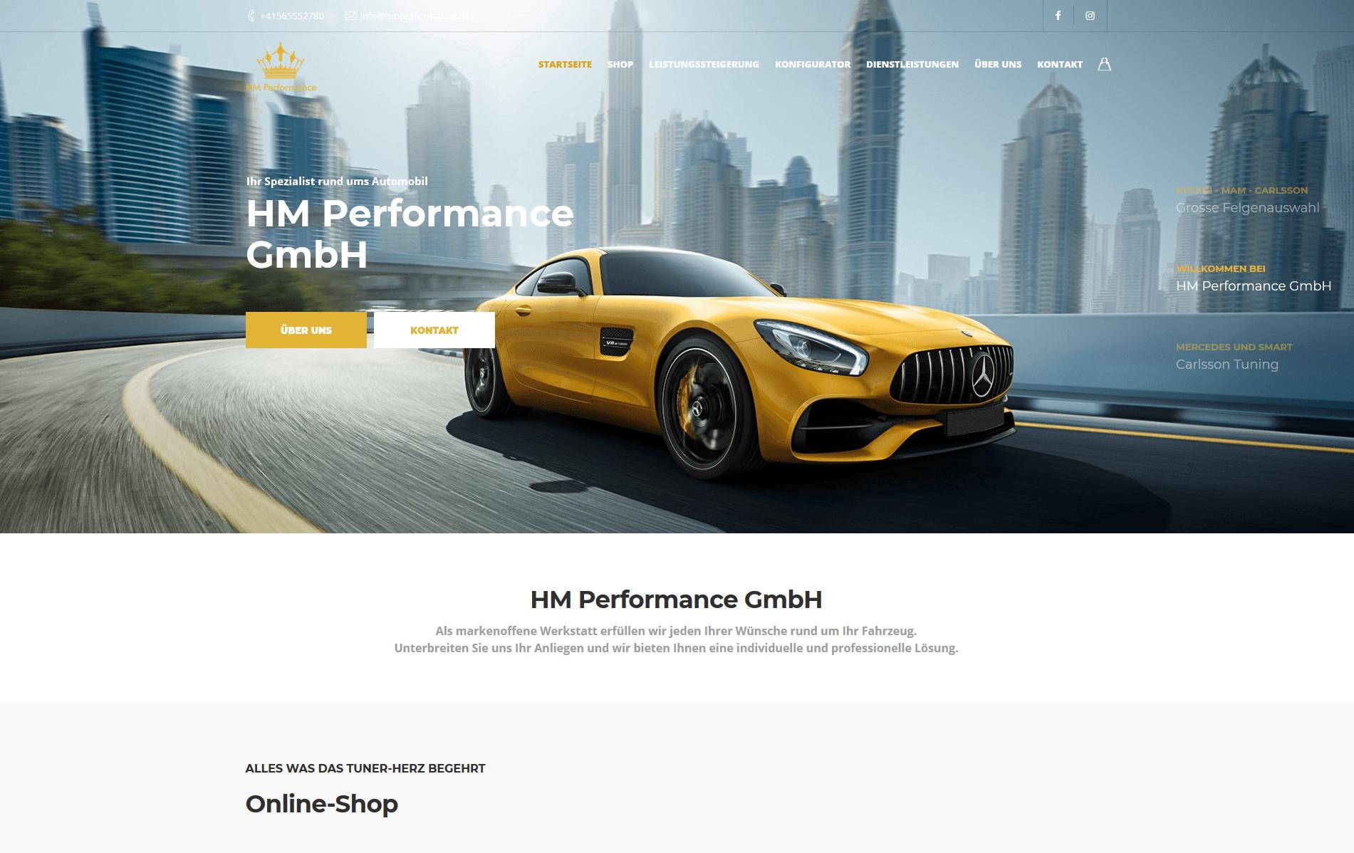 Firmenwebseite Autowerkstatt