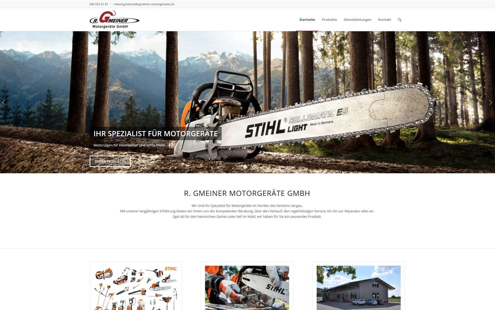 Firmenwebseite Kleingeräte