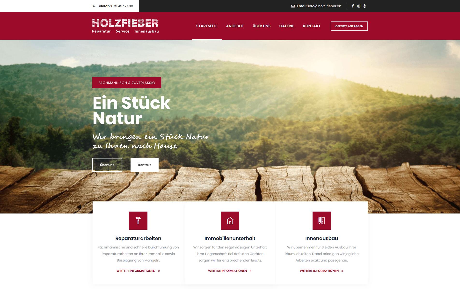 Firmenwebseite Schreiner
