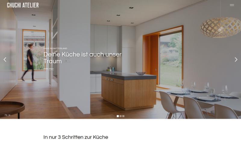 Firmenwebseite Küchenbauer