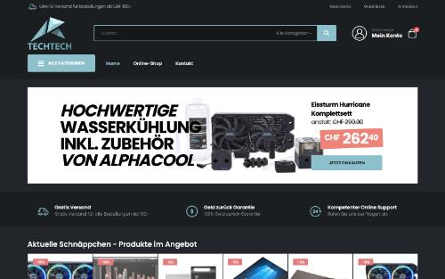 Online-Shop für Elektronikartikel