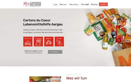 Webseite Lebensmittelhilfe Aargau