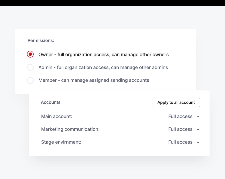 A screenshot showing user roles.