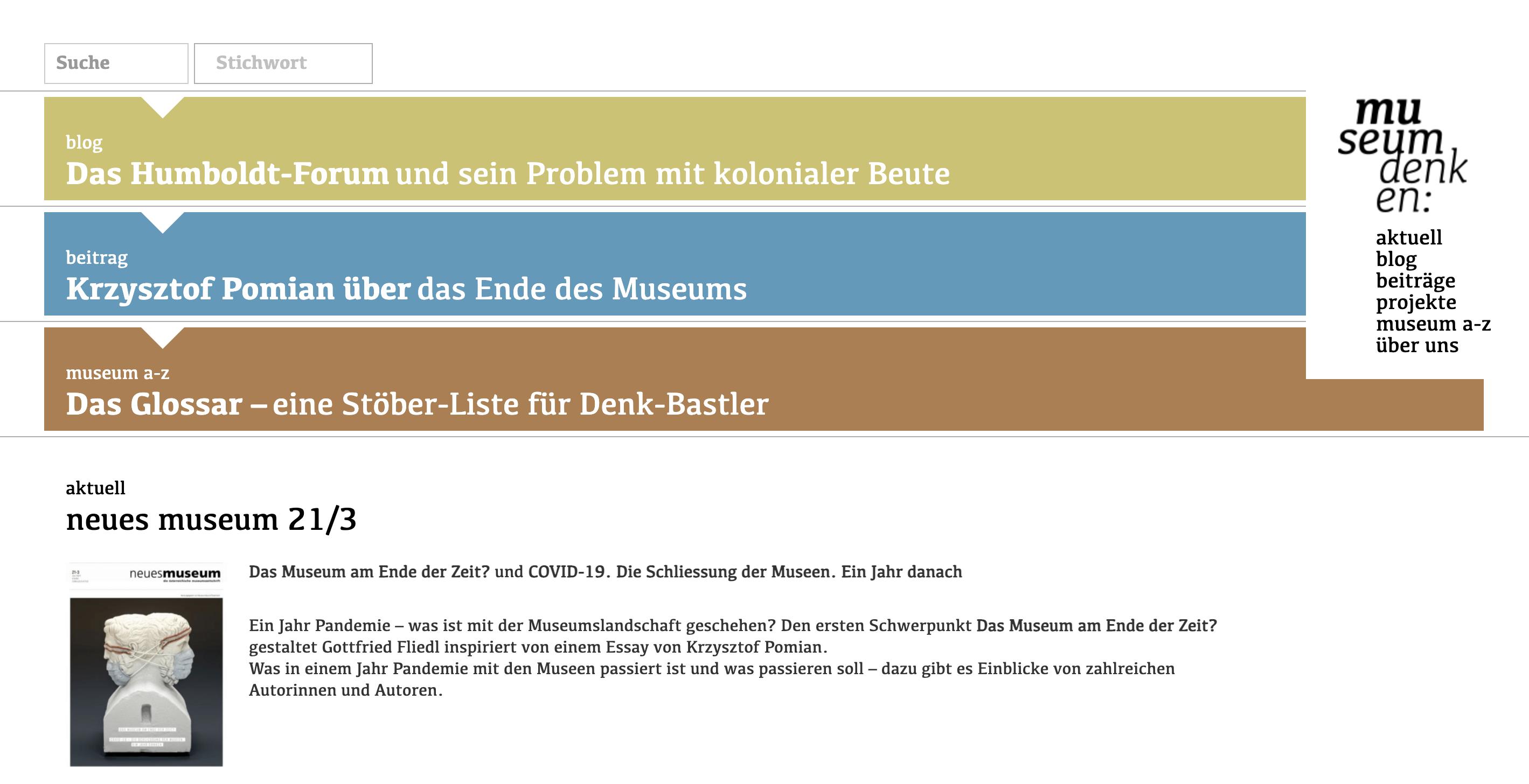 museumdenken ist eine Initiative für eine breite und diverse Debatte zur Zukunft der Museen.