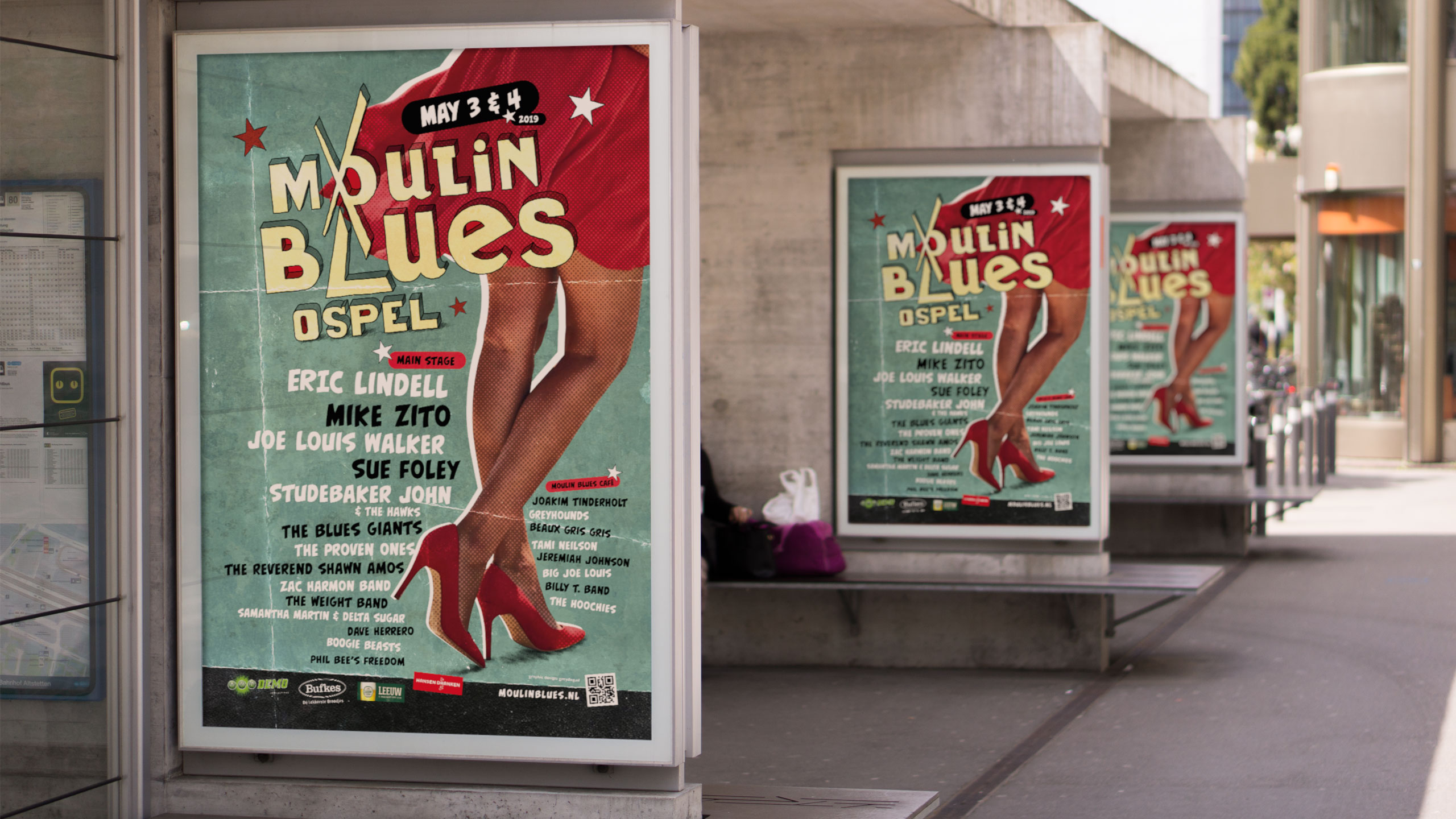 Moulin Blues Poster 2019 op treinstation