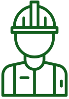 Construction Worker Icon Green