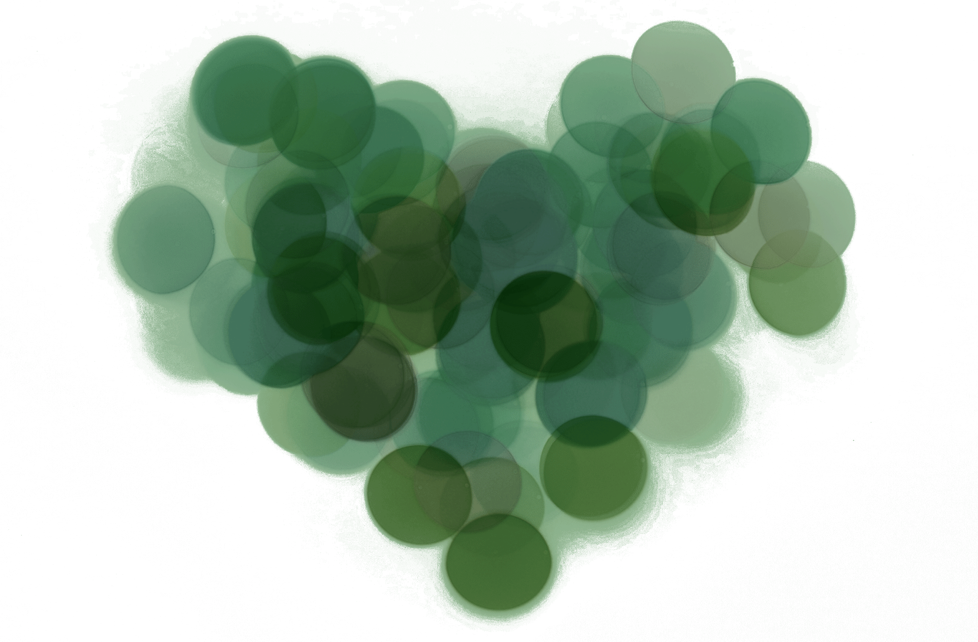 abstract green heart