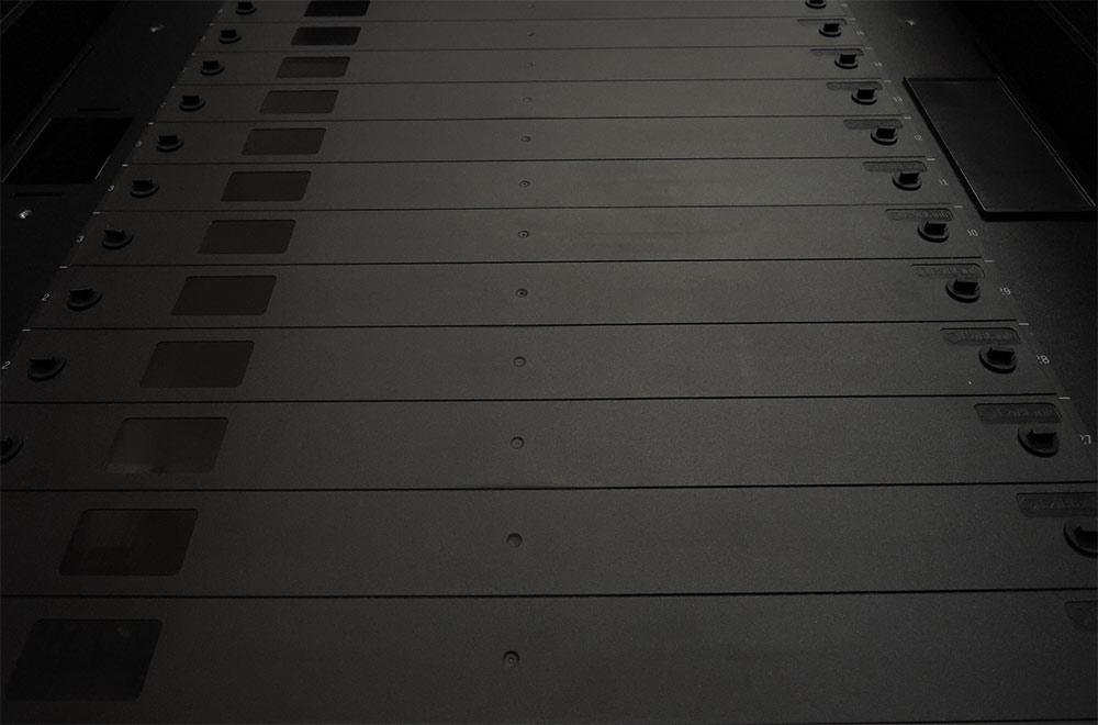 """EziBlank® Blanking Panel 19"""" 6RU Universal Modular"""