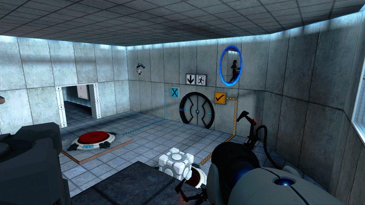 Le jeu Portal®, un jeu de réflexion qui demande beaucoup d'esprit d'abstraction et de penser de manière créative.