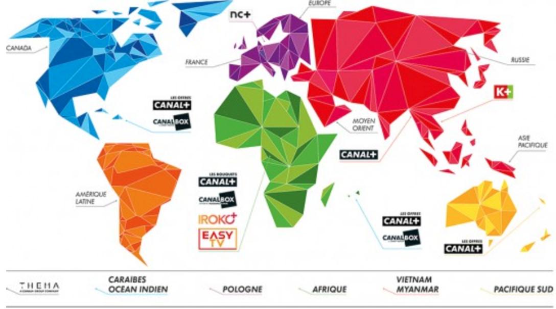 Carte du monde CANAL+ et vendeurs formateurs à Canal+