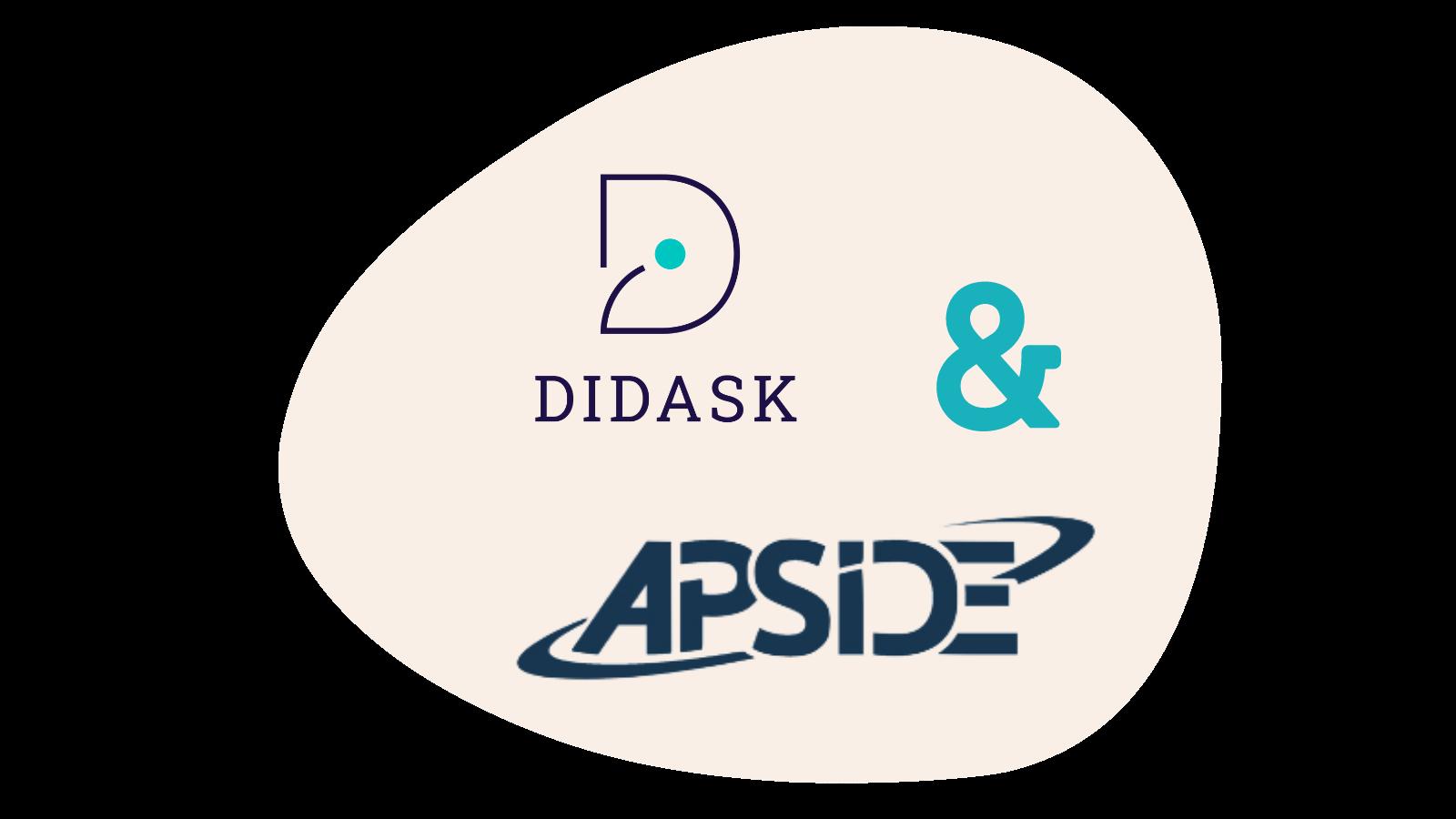 logo Didask et Apside - Enrichir et concevoir soi-même ses formations en digital learning : Apside témoigne !