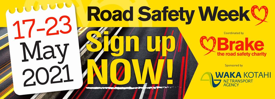 Road Safety Week Brake Banner 17-23 May 2021