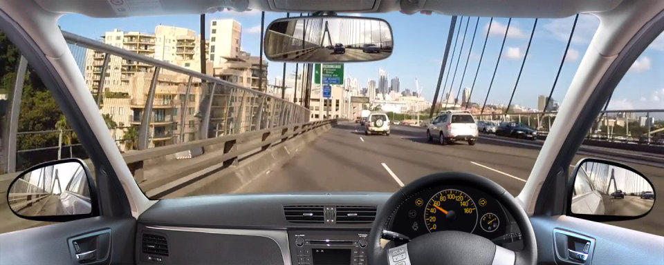 Driving scenario in an urban setting in Australia