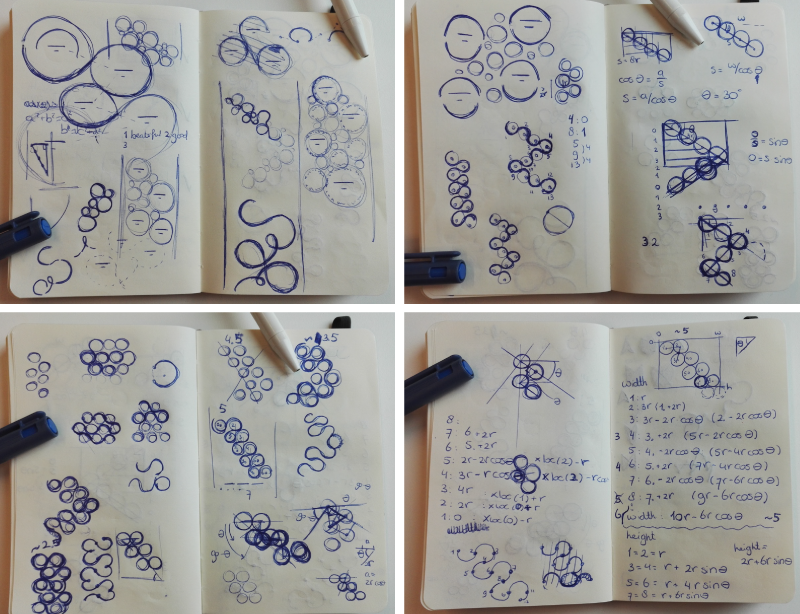 All sketches to figure out the word string mathematics