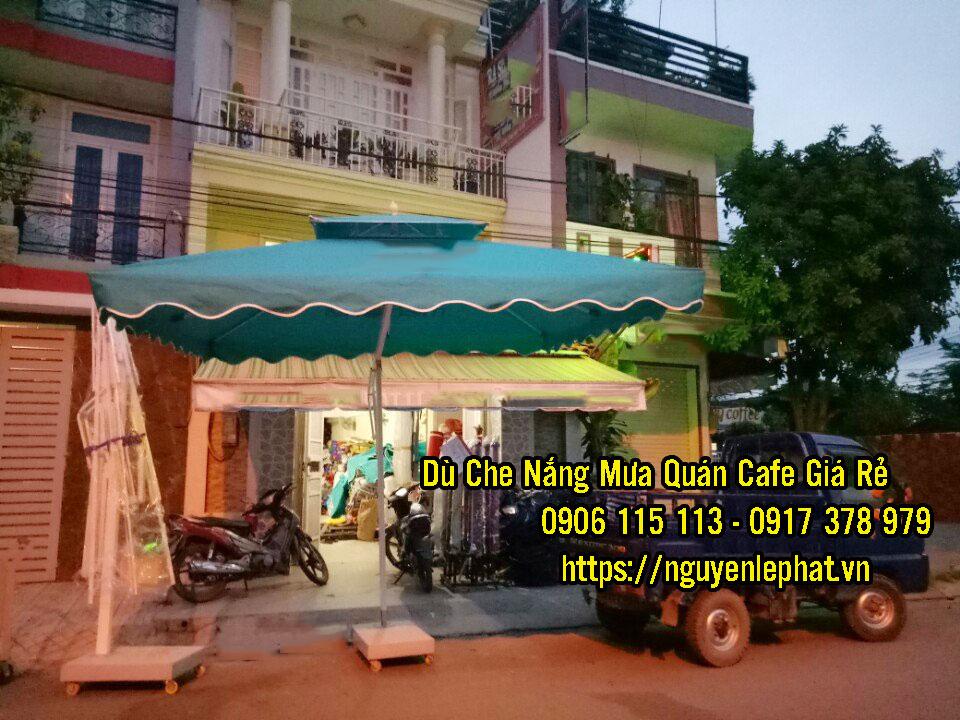 Dù Lệch tâm 2 tầng che nắng mưa quán cafe giá rẻ mẫu mới đẹp