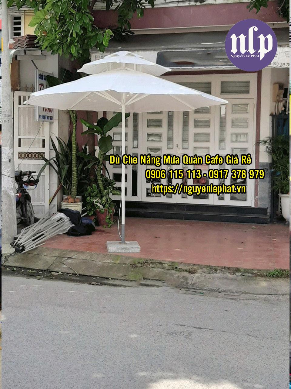 Dù Đứng tâm 2 tầng che nắng mưa quán cafe giá rẻ mẫu mới đẹp
