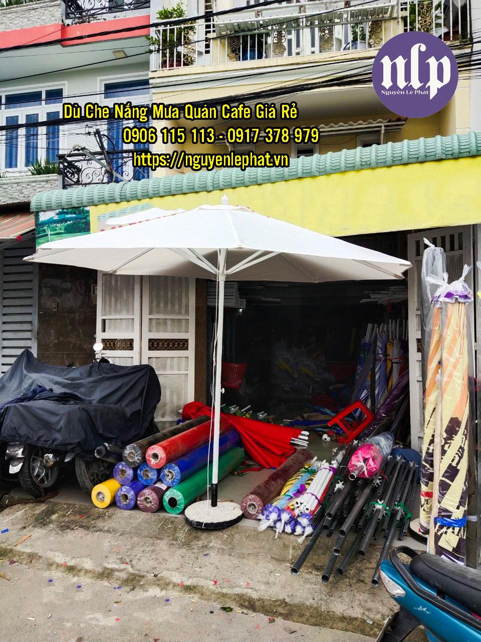 Dù Đứng tâm 1 tầng che nắng mưa quán cafe giá rẻ mẫu mới đẹp