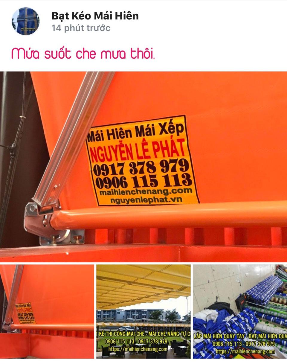 Làm mái hiên di động giá rẻ Biên Hòa Đồng Nai