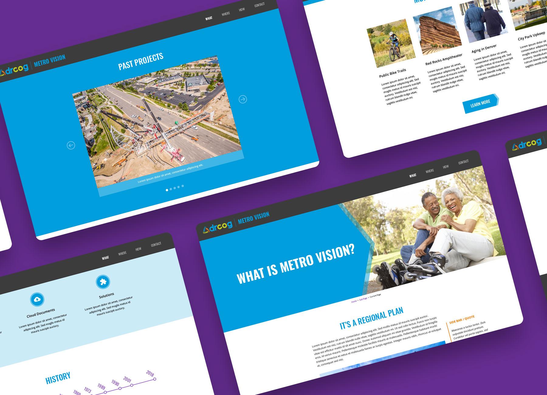 metro vision website design