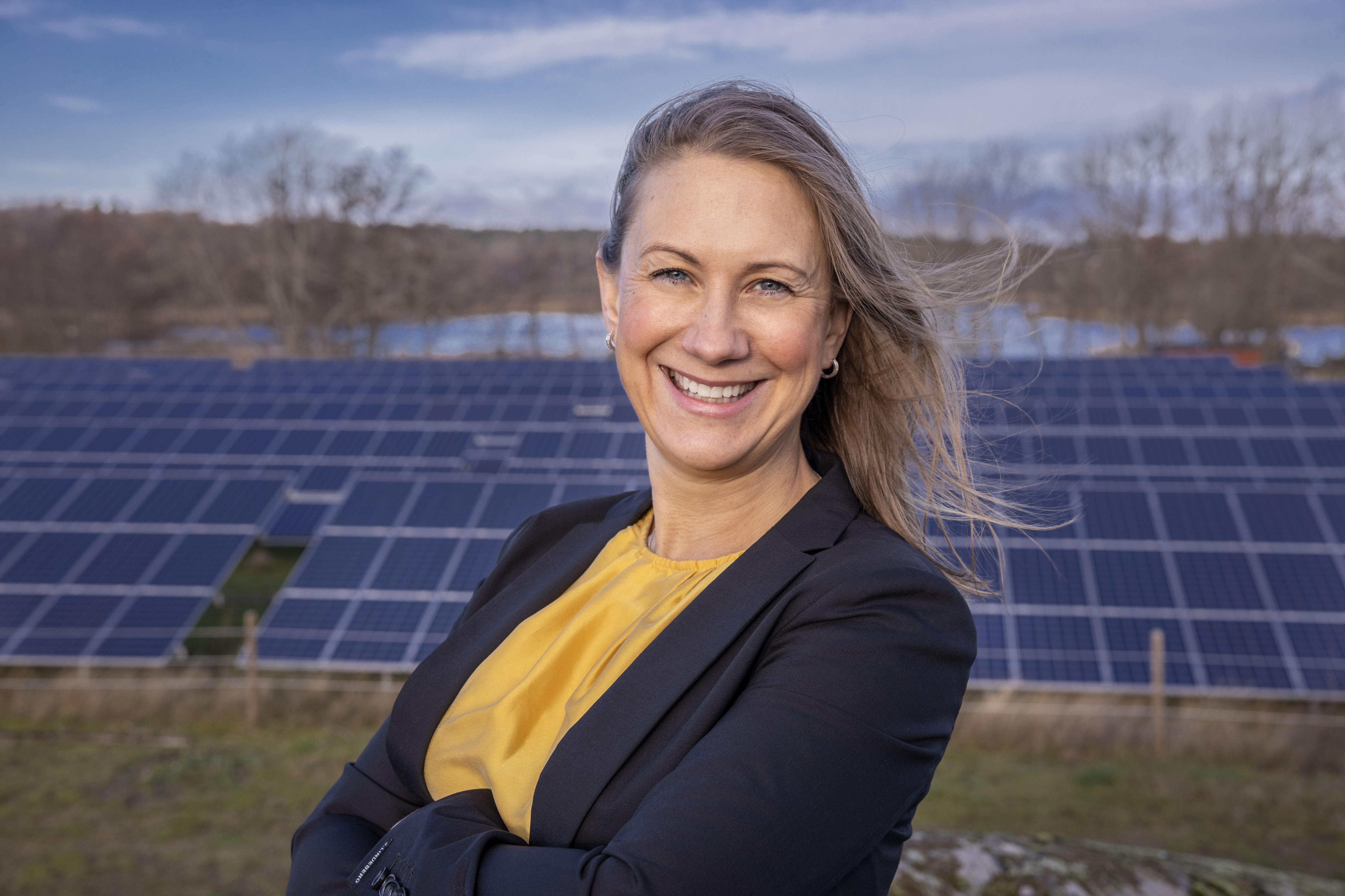 Anna Werner, vd på Svensk Solenergi. Foto: Jann Lipka.