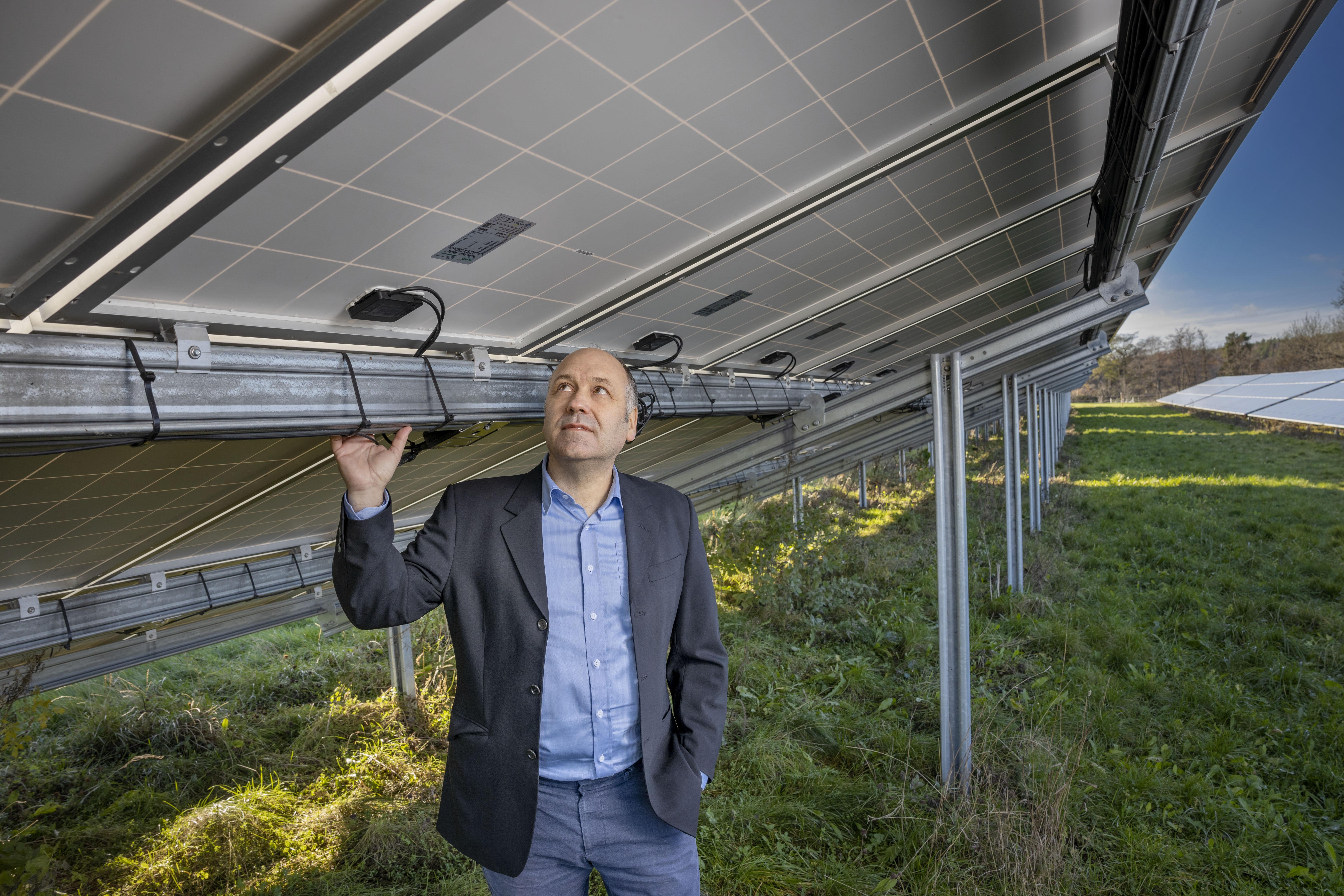 Ola Andersson, ny teknisk expert på Svensk solenergi. Foto: Jann Lipka.