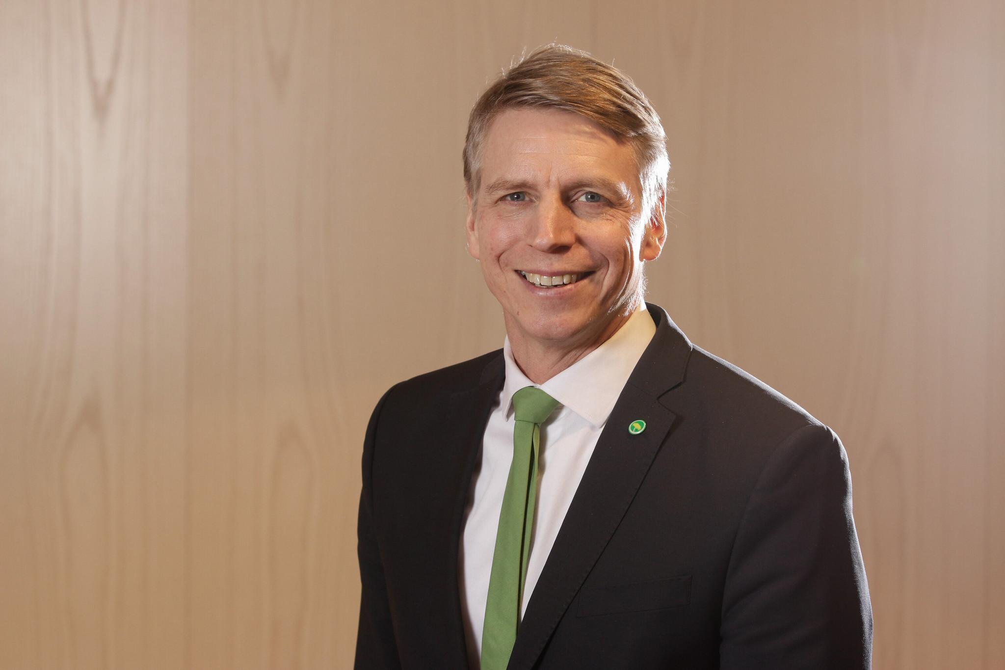 Per Bolund, språkrör för Miljöpartiet. Foto: Pressbild, Miljöpartiet.