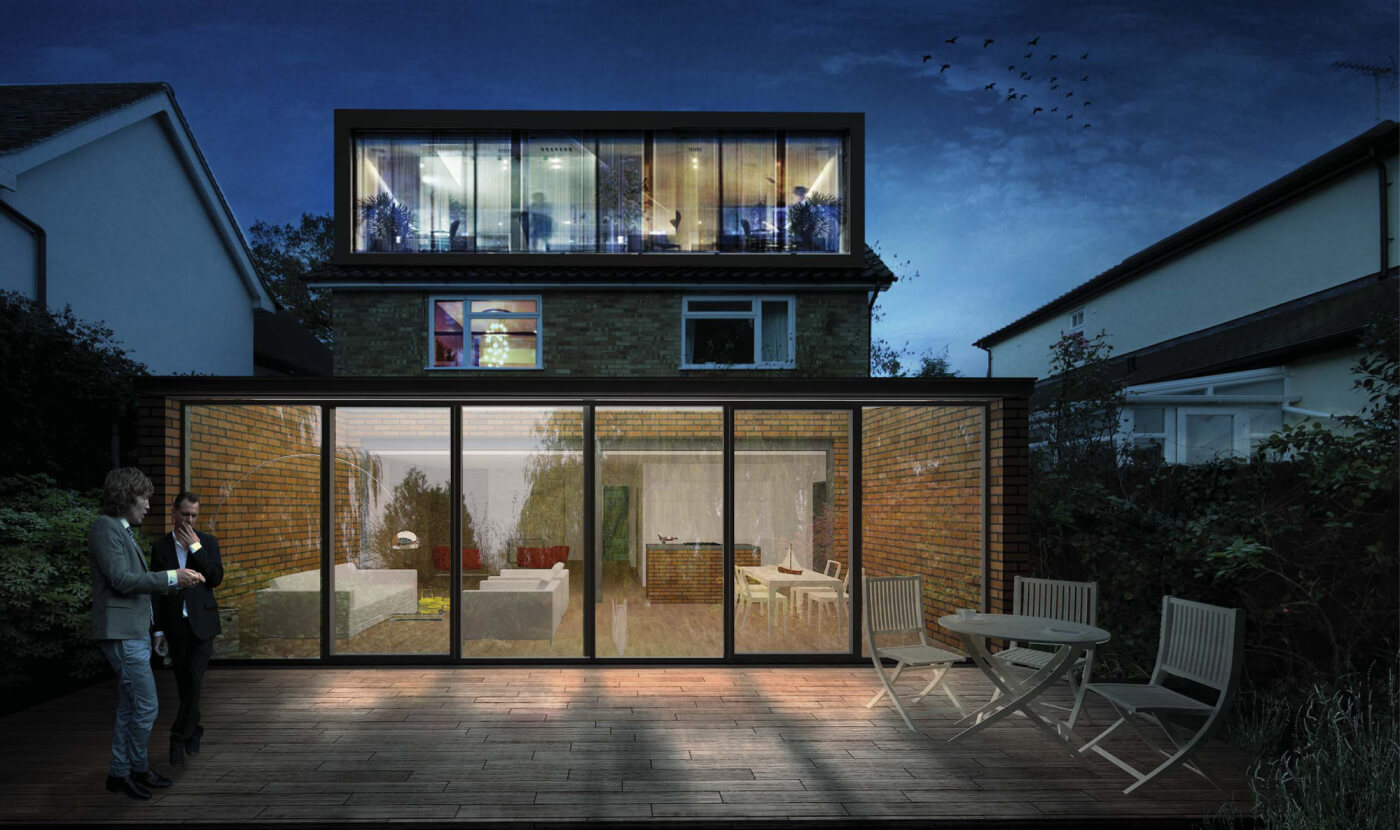 Wok bkrd  back extension and loft conversion