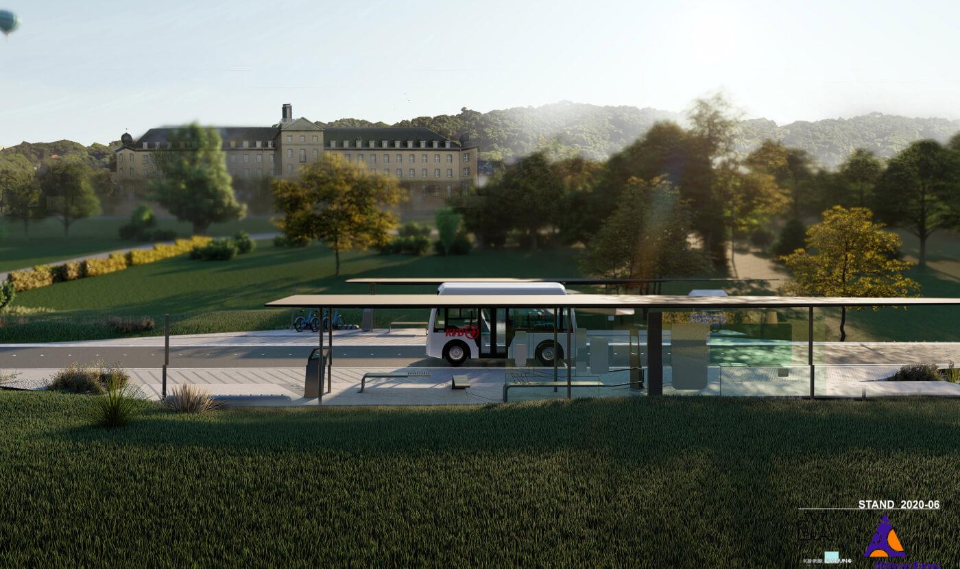 Strecke für autonome Fahrzeuge am Miltenyi Biotec Campus BGL- Linie 1