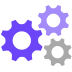 Gear icon system view