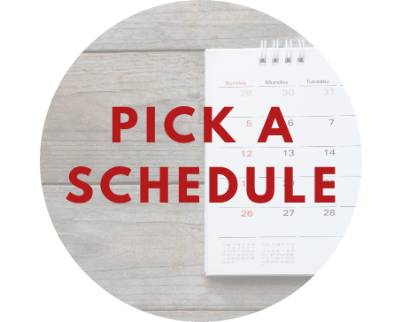 We offer a range of schedule for you to choose from! Full-day, weekend, morning, afternoon or evening classes, we've got it all!