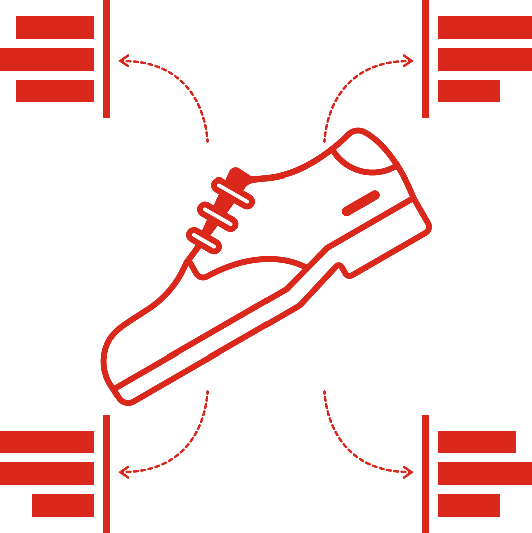 An illustration of a derby shoe and its components