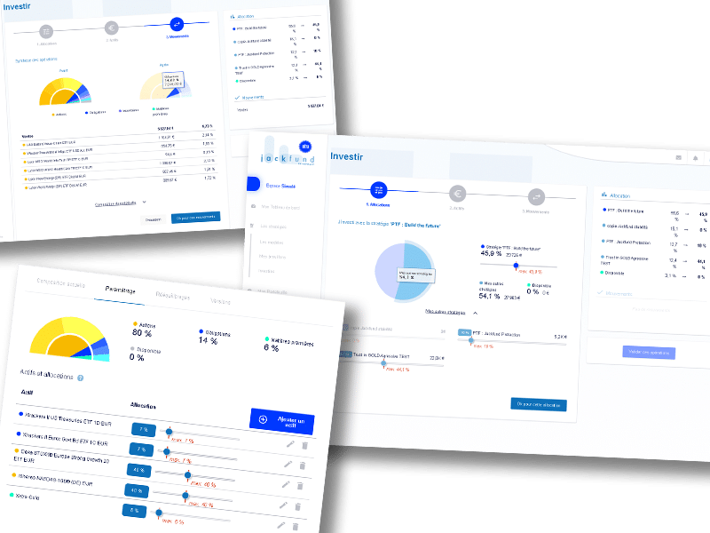 captures d'ecran application jackfund