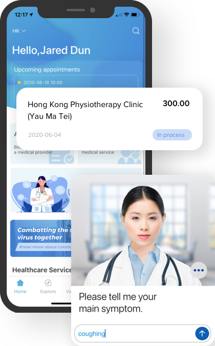 Carevoice app for virtual health assistant and eclaims