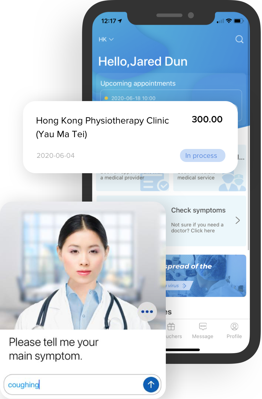 CareVoice app for virtual health assistant, doctor search and e-claims