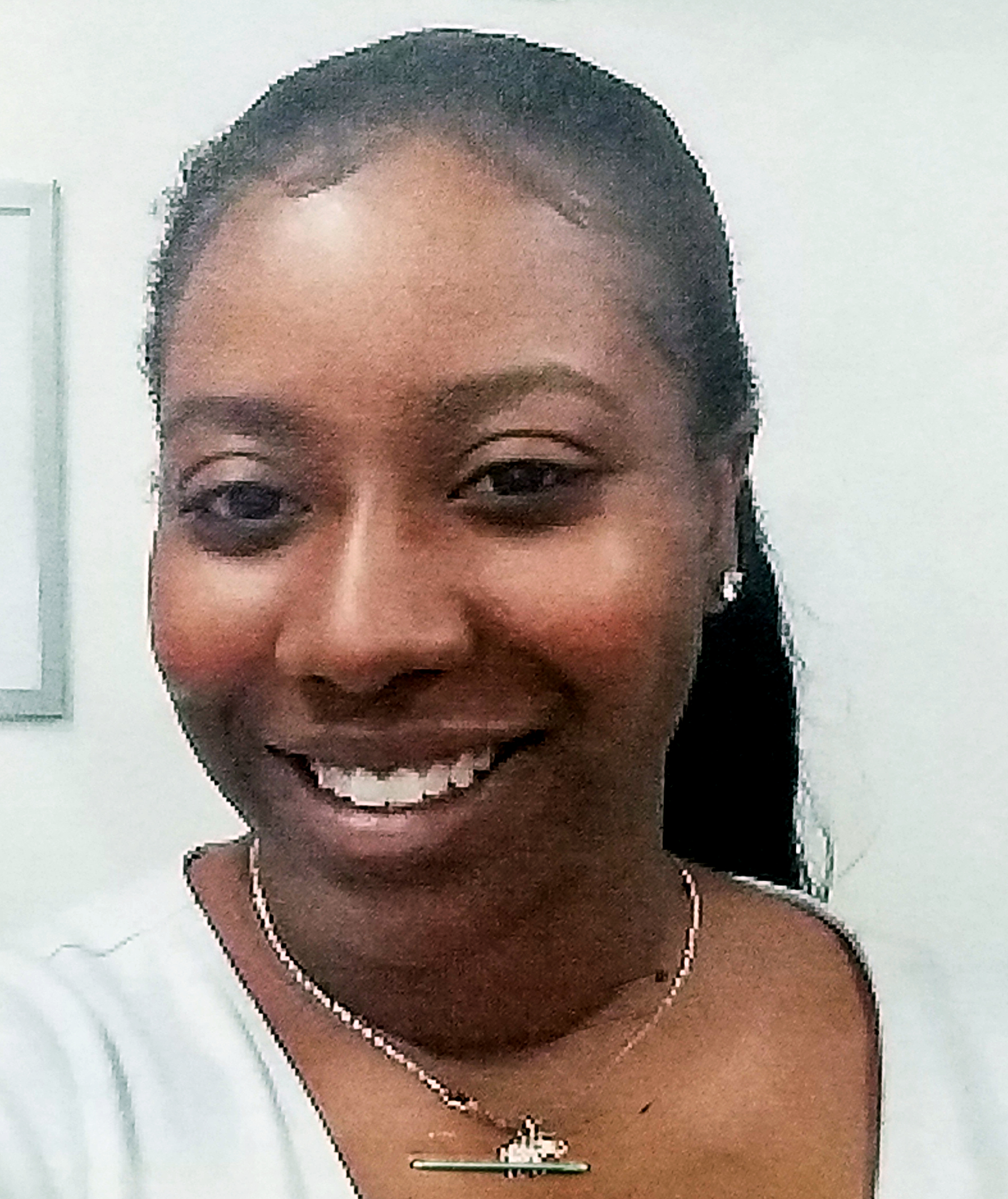 A photo of Ms.John Stuart, our school aide.
