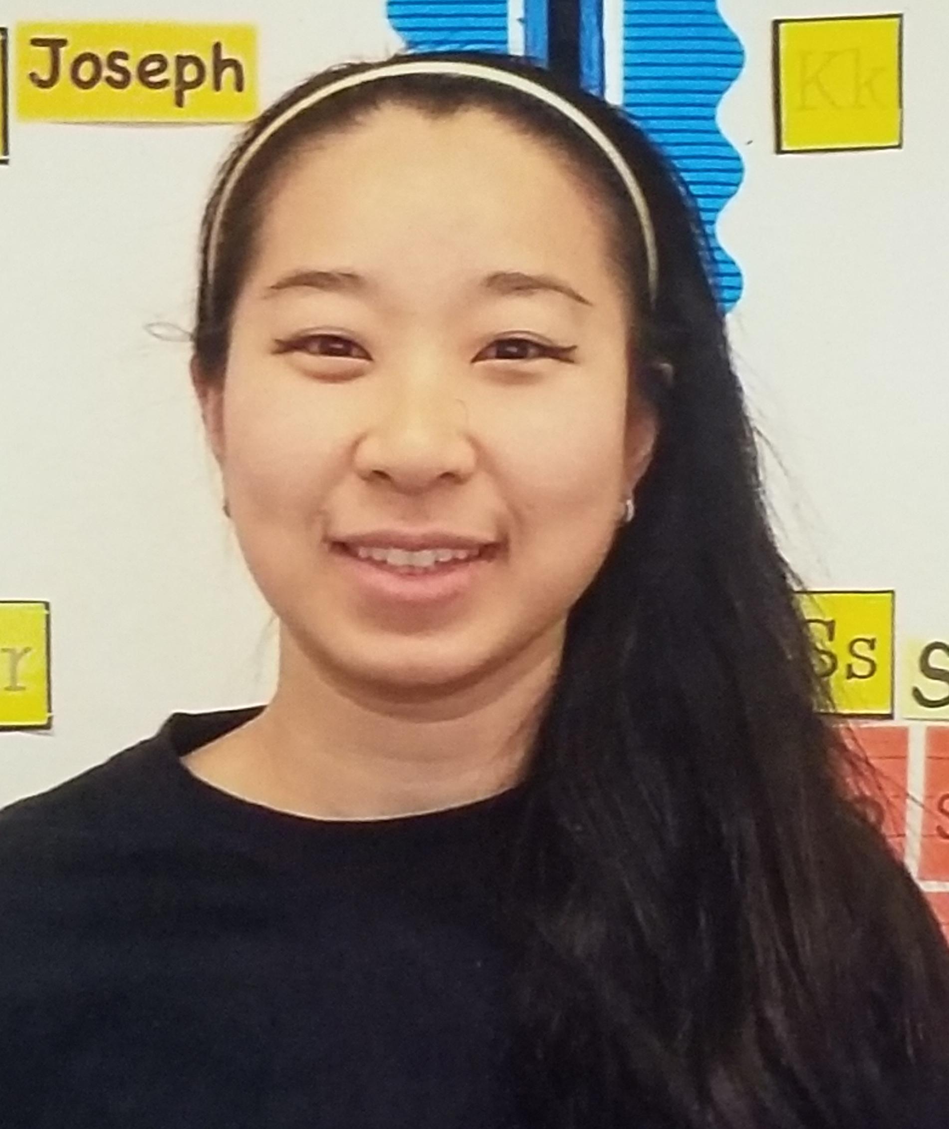 A photo of Ms.Huang, our Kindergarten teacher.