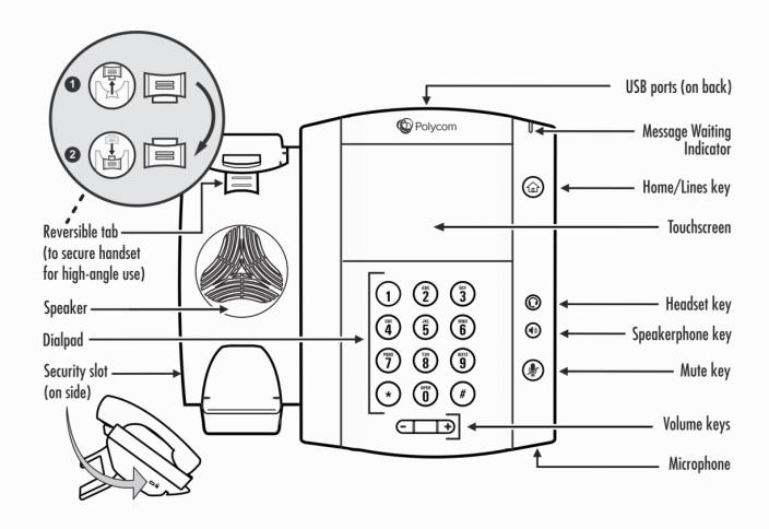 Polycom VVX-500 VVX-600 Diagram