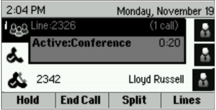 Active Conference Screen