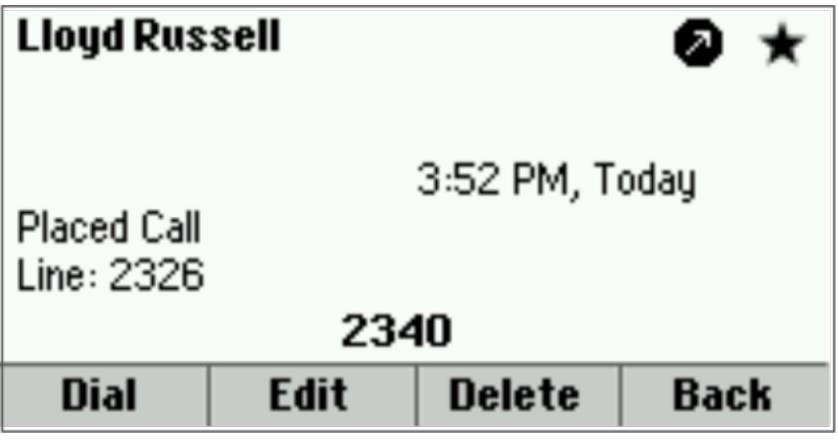 Call Details Screen
