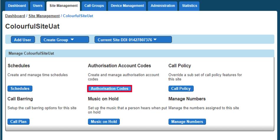 Authorisation Codes