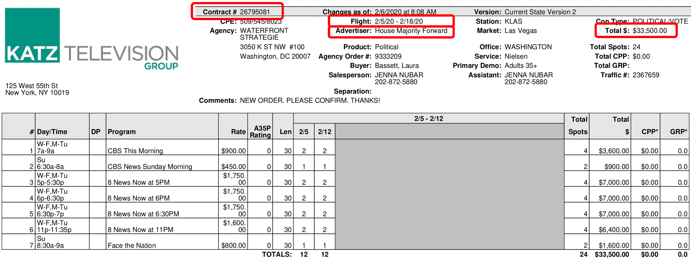 Annotated invoice example 1