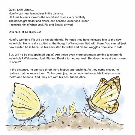 "Butterfly image from the children's book ""Humfry Hippo Moves Home"""