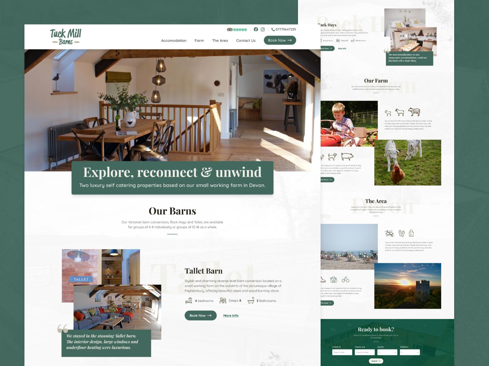 Holiday Cottages Site Design