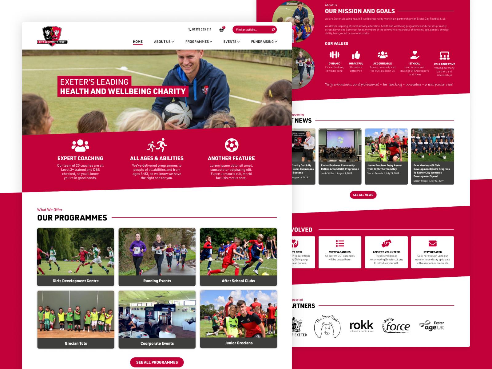 Health & Wellbeing Charity Homepage